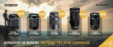 Vergroot je bereik: Olympus cashback tot €150!